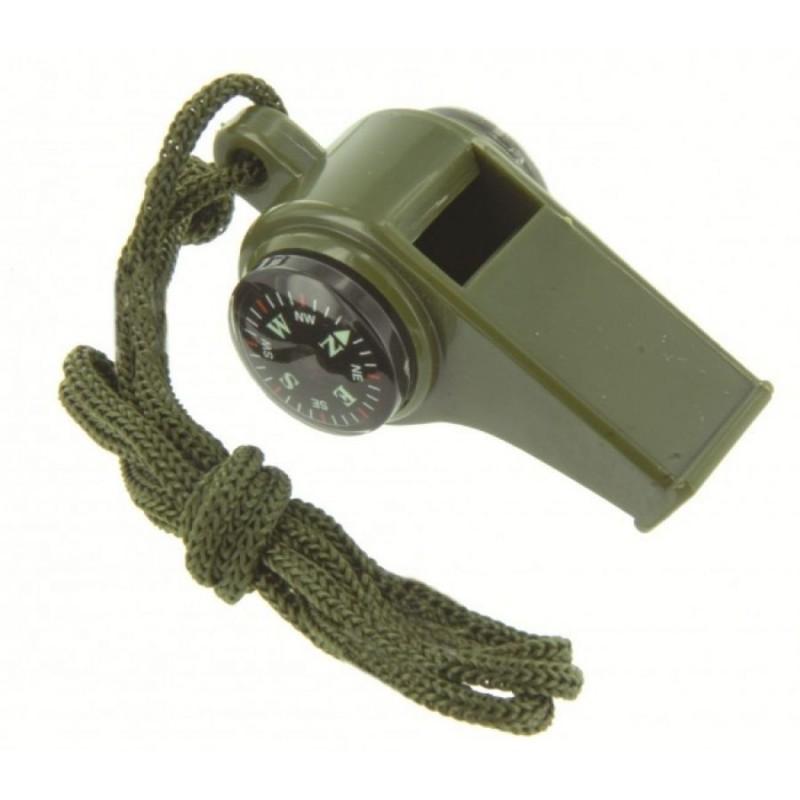 Свирка с компас и термометър Ranger