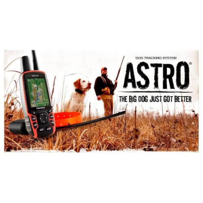 Комплект на Garmin за проследяване на кучета с приемник Astro320 и каишка T5 предавател
