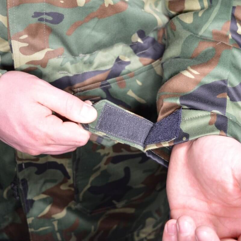 Военна шуба с нашивки на българската армия Flecktex