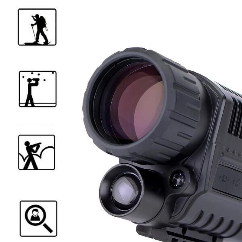 Дигитален монокъл с IR подсветка за нощно виждане