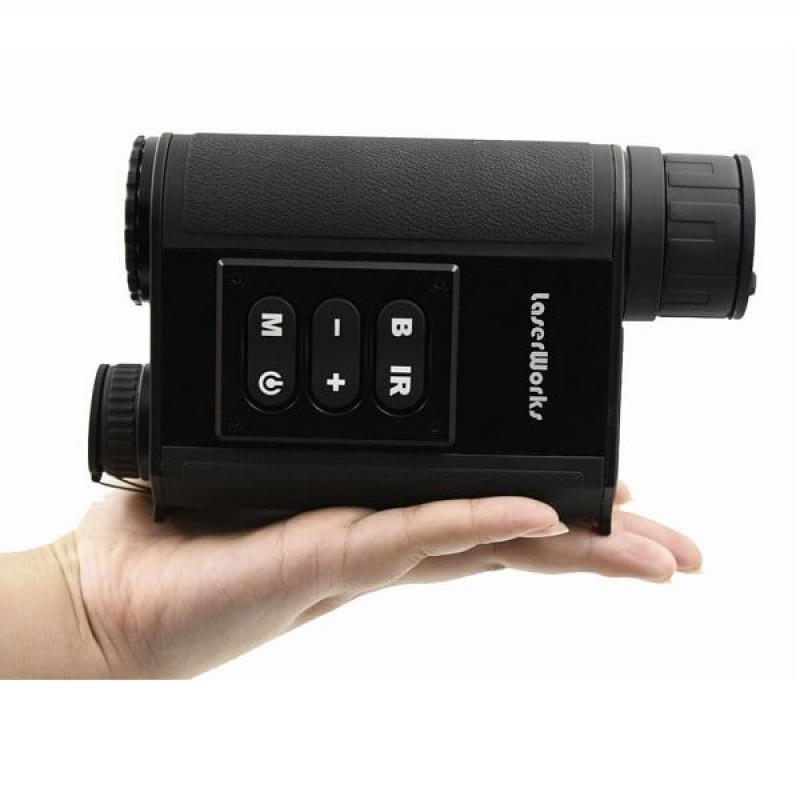 Комбинация на дигитален монокъл и лазерен далекомер за дневно и нощно виждане