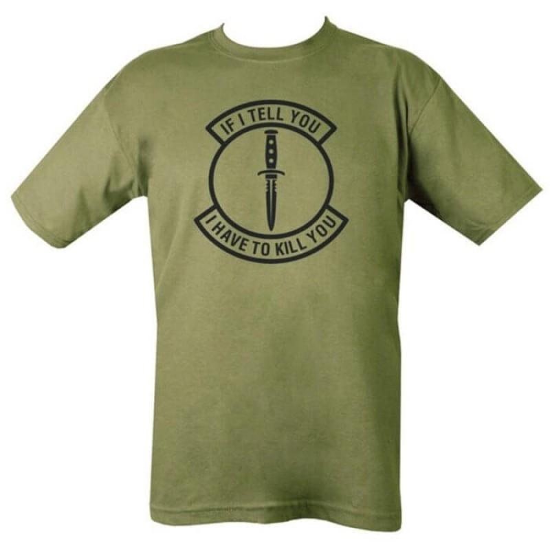 Мъжка тениска с надпис на Kombat.uk
