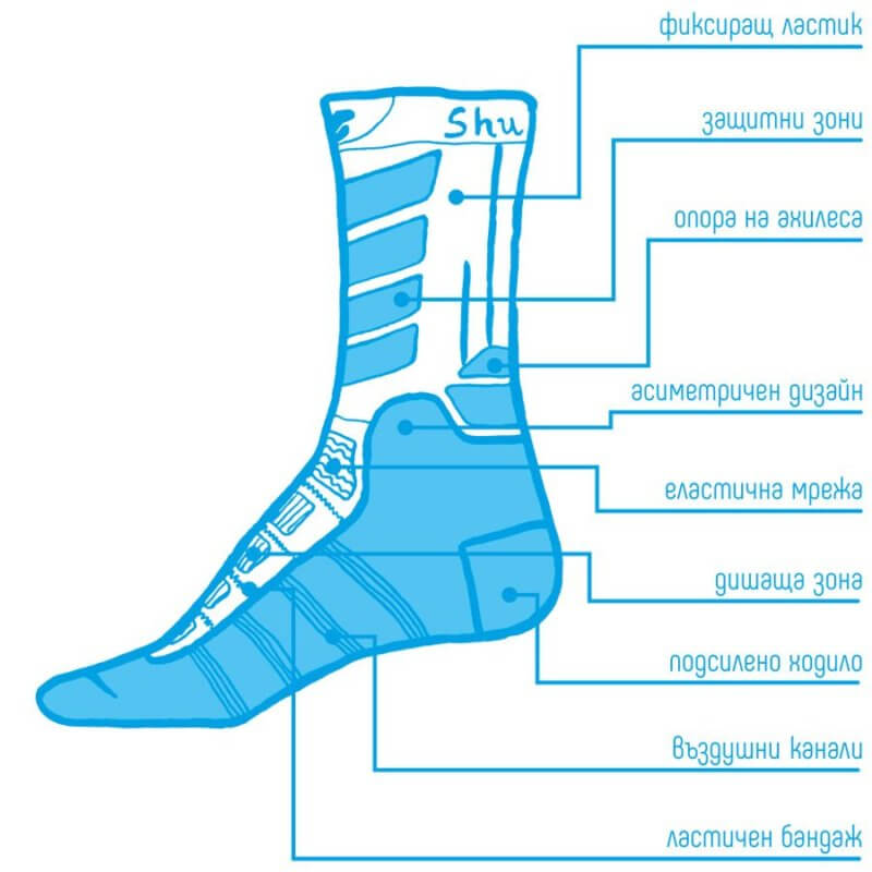 Зимни чорапи Shushon Descender II