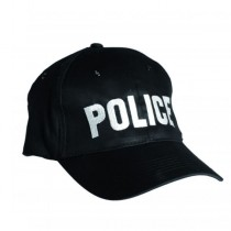 Шапка с козирка и бродерия POLICE
