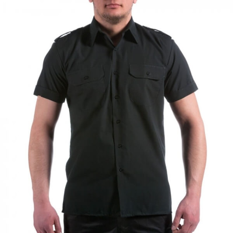 Официална риза с къс ръкав