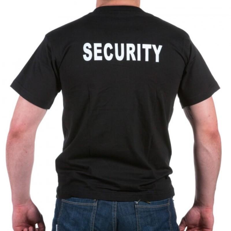 Тениска с щампа SECURITY