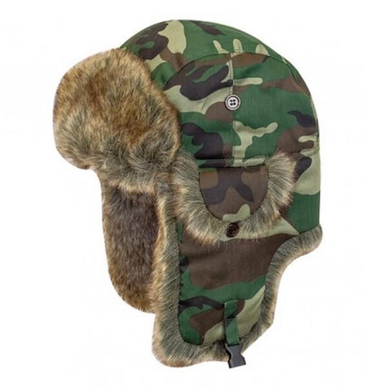 Комбинация от зимна шапка и ушанка Highlander