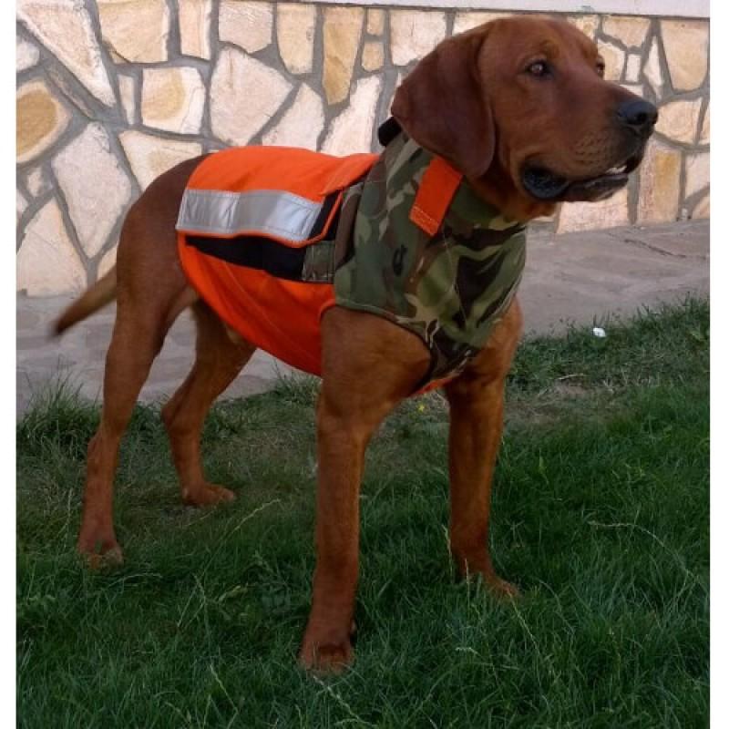 Ловна светлоотразителна кучешка жилетка