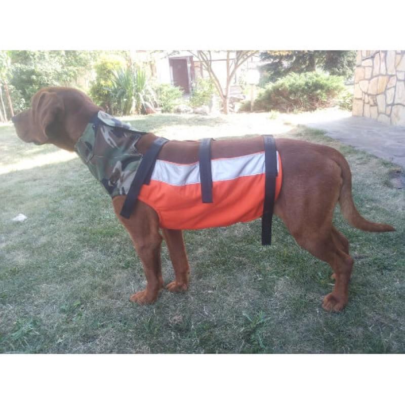 Отворена дълга предпазна жилетка за ловни кучета