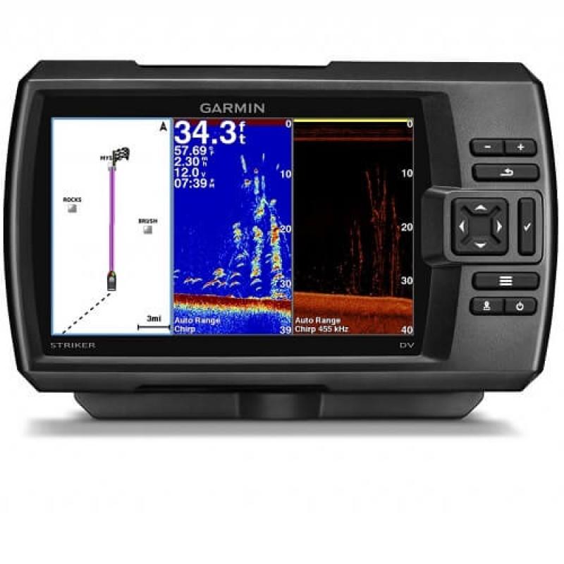 Ехолот за риба GARMIN CHIRP сонар с GPS и ClearVü технология на сканиране