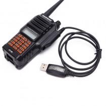 Комуникационен USB кабел за програмиране на  двубандови радиостанции Baofeng с водоустойчив накрайник