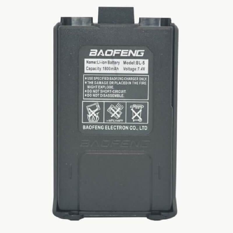 Резервна батерия за радиостанции Baofeng UV-5R, UV-5RA, UV-RB, UV-5RE