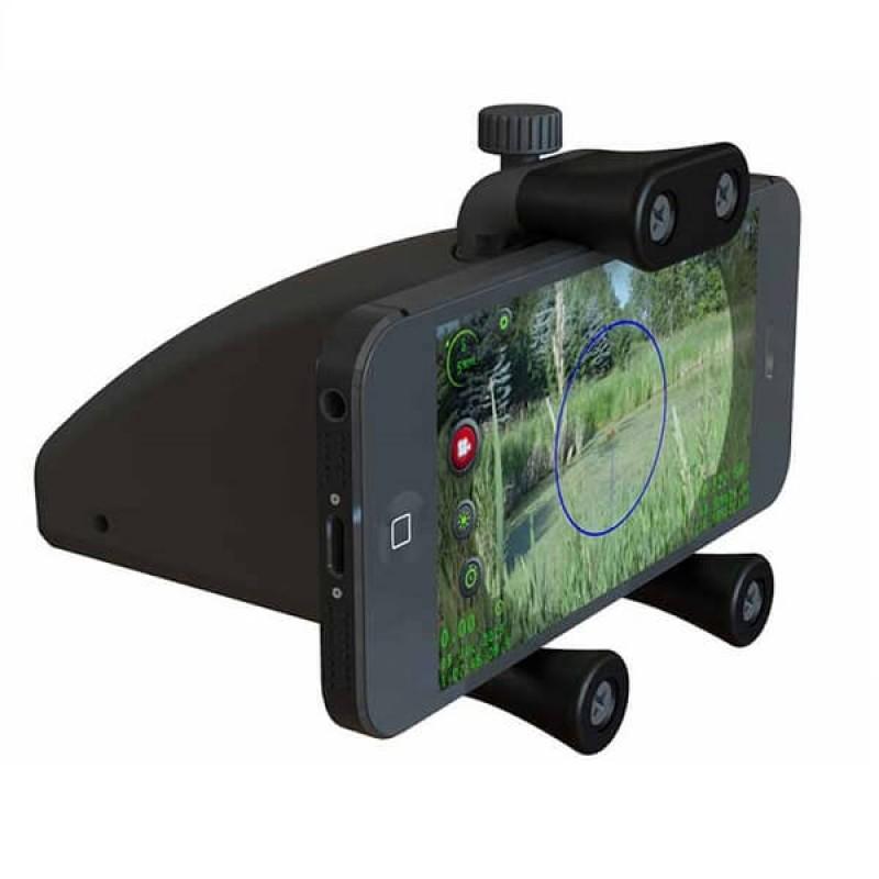 Стойка за смартфон за поставяне върху ловна пушка